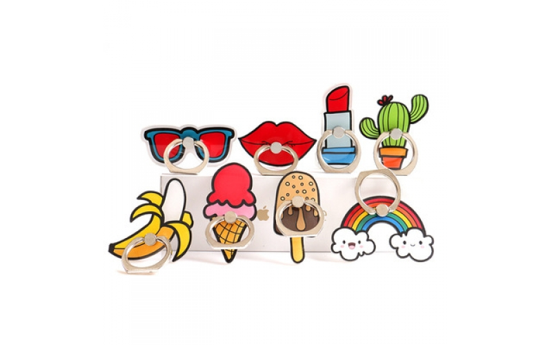 New fashion cell phone holder cartoon DIY phone ring wholesale creative mobile phone accessories
