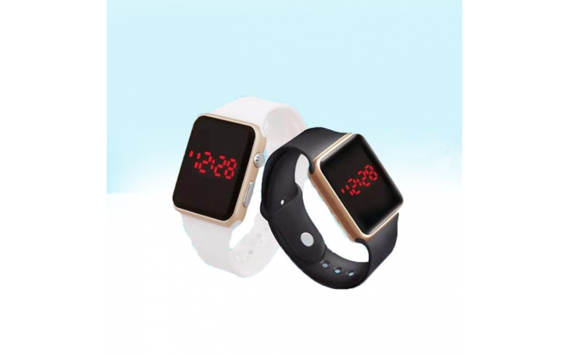 Electroplated fashionable led apple watch square led electronic movement wristwatch