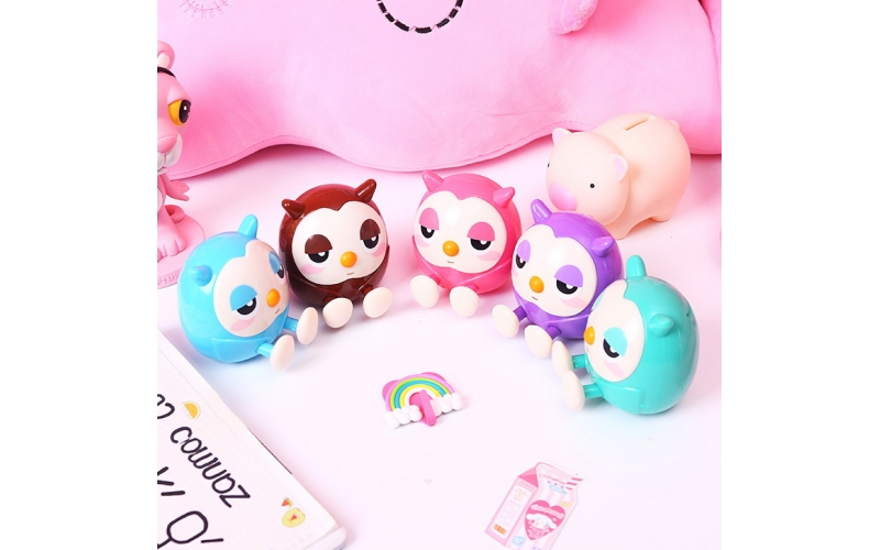 Owl cartoon shape piggy bank birthday gift multi-purpose stand for phone creative mobile phone accessory
